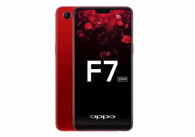 Oppo F7موبايل - 6.23 بوصة- 64جيجا بايت ثنائي الشريحة -أحمر